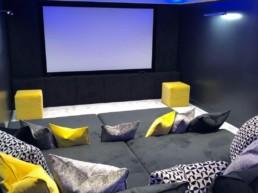 Home cinema suede furniture luton
