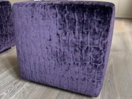 Purple Suede Foot Cusion Luton
